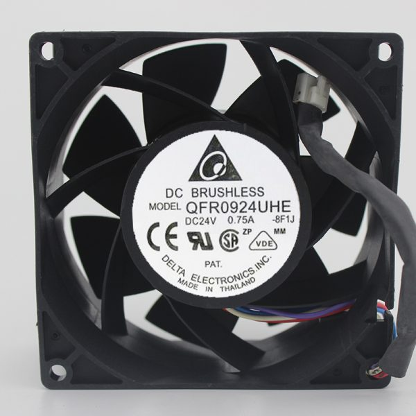 Brand new original DC cooling fan QFR0924UHE 92*92*38 24V 0.75A 9238 4 wires
