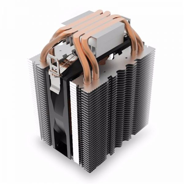 For Intel for LGA1150 1151 1155 775 1156 4 Heatpipe Radiator Quiet 3pin CPU Cooler Heatsink Fan Cooling for Desktops Computer