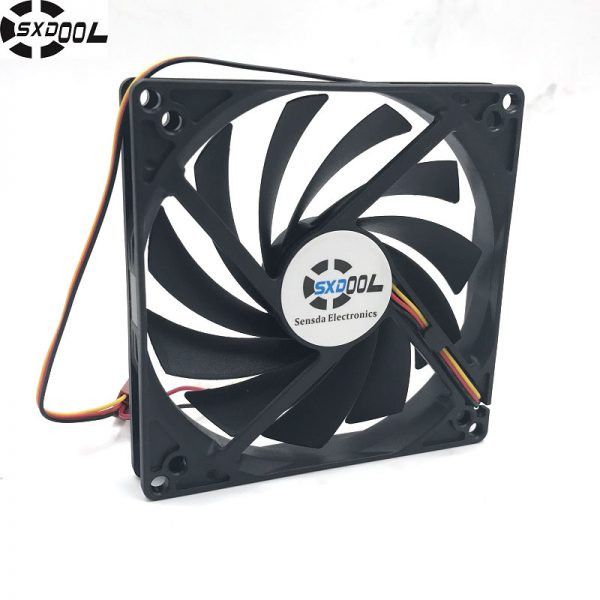 SXDOOL 100mm, 10cm fan, Single fan, Ultra-Thin, Washable, super mute, for power supply, for computer Case cooler