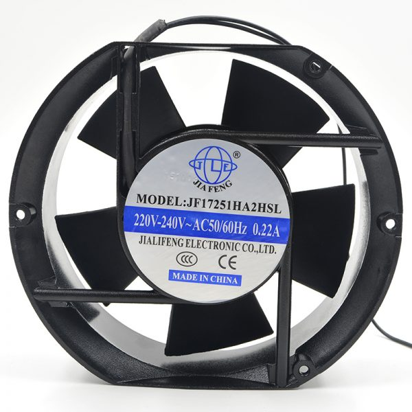 New, original, JF17251HA2HSL, AC, 220V, 50/60Hz, 0.22A, 170*170*51 fans