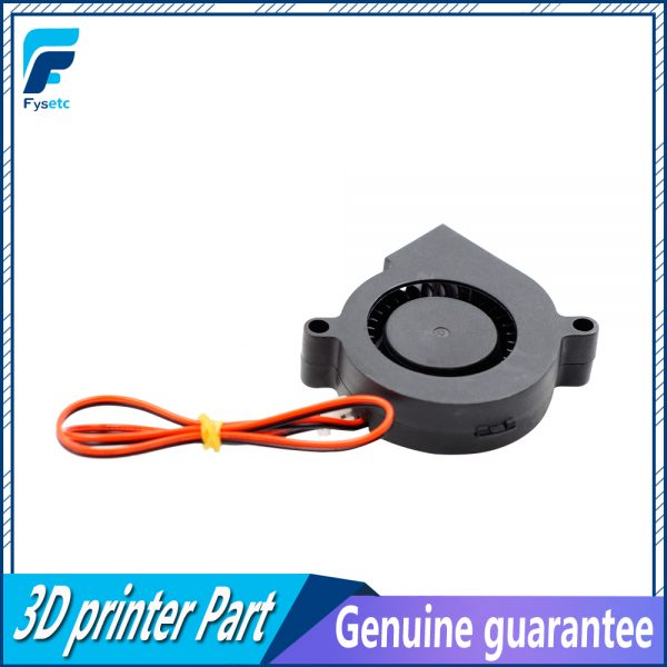 1PC 12V DC 5015 50mm Blow Radial Cooling Fan Sleeve Bearing for Electronic 3D Printer Parts VS Ball Bearing Long Life Low Noisy