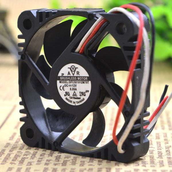 Free Delivery.DFC501012M70T 12 v 0.09 A 5010 5 cm 3 line ultra-quiet cooling fans