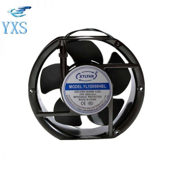 YL15050HBL AC 220V-240V 0.22A 55W 2600RPM 50/60HZ 2 Wires 17251 17cm 172*150*51mm Cabinet Cooling Fan