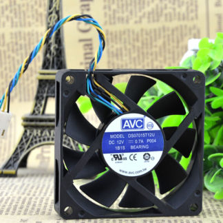 The original AVC DS07015T12U 12V0.70A 7CM 70*70*15 4 pin PWM large volume CPU fan