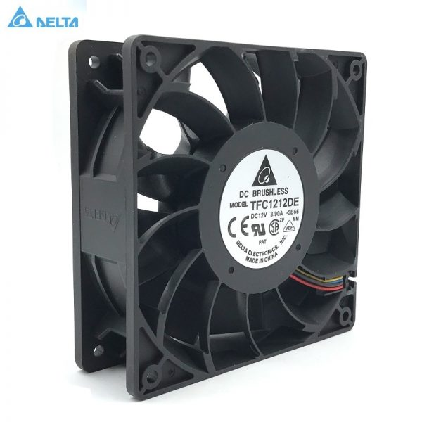 Original Delta TFC1212DE 12CM 12038 12V 3.9A 252CFM winds of booster PWM fan violence For Bitcoin miner super cooling