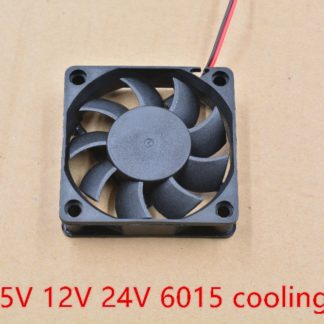 3d printer fan 6015 2pins 60mm 60x60 x15 mm 6cm cooling fan graphics card fan DC 5V / 12V / 24V 6015 2P 1pcs