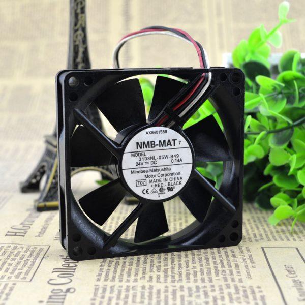 NMB 3108-05w–B49 DC24v 0.14 A 3line detection alarm inverter fan