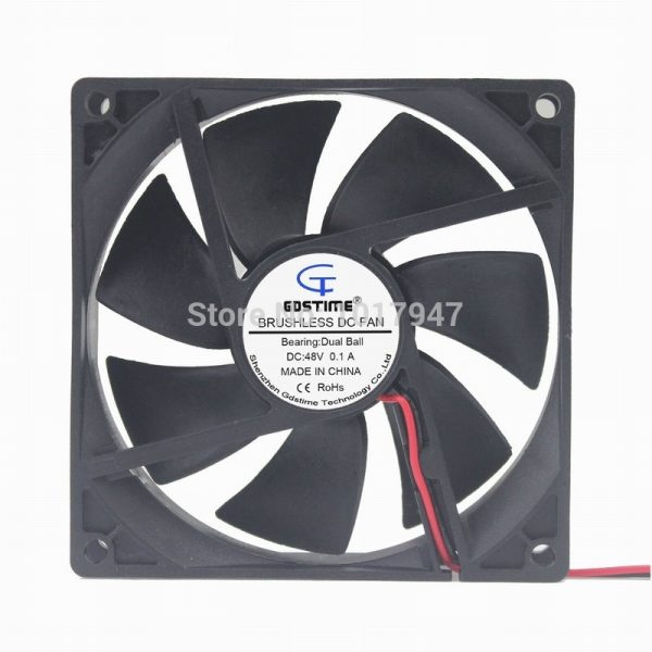 1pieces Gdstime DC 48V 2Pin Ball 92mm x 92mm x 25mm 9225 Cooling Cooler Axial Flow Fan