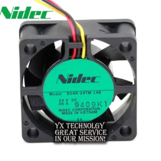 Nidec New original 4015 24V 0.06A D04R-24TM 14B inverter fan signal detection for nidec 40*40*15mm