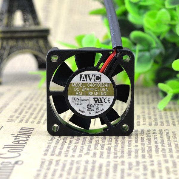 Free Delivery. C4010B24H 24 v 0.08 A 4 cm 4010 2 line double ball printer inverter fan