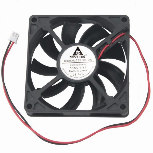 1 pcs Gdstime DC 12V PC CPU Axial Fan 80mm x 15mm Computer Case Brushless Cooling Fan 80x80mm 8cm 2Pin