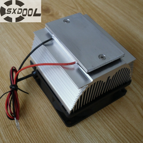 SXDOOL Cooling!DIY Peltier Air condition refrigeration plate TEC12706AJ 12V Cooling fan