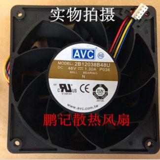 AVC 120*120*38 12CM 48V 1.3A 2B12038B48U 4 pin high air volume fan fan violence