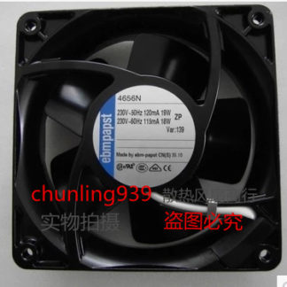 New original ebmpapst 4656N AC220V12038 120 * 120 * 38MM water temperature axial fan4W 80 * 80 * 25 mm PUDC24Z4 inverter fan
