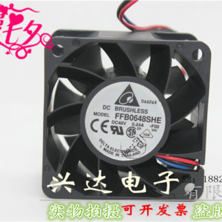 New original FFB0648SHE 48V 0.24 6038 6cm double ball cooling fan