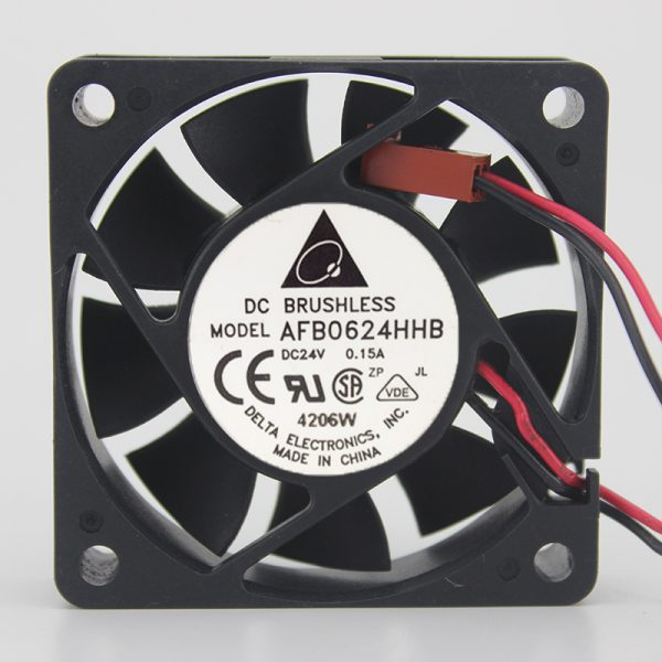 AFB0624HHB 24V 0.15A 6CM 6015 2-wire inverter ball cooling fan