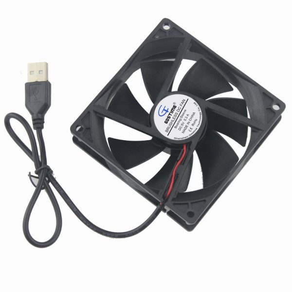Gdstime 10 pcs 9225s USB PC Fan 92mm Axial Motor Cooling Fan 5V 92x92x25mm 9cm DC Brushless Computer Case Cooler 90mm