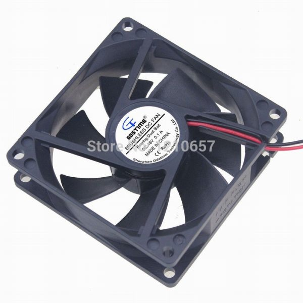 1 Pieces Gdstime DC 48V 2Pin 0.1A Ball 80mm 80x25mm 8CM 8025B Brushless Cooling Cooler Fan