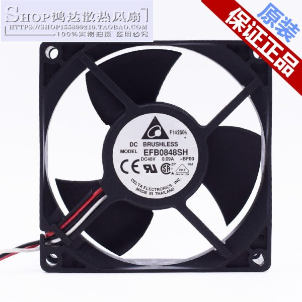 Delta Electronics EFB0848SH -BF00 Server Square Fan DC 48V 0.09A 80x80x25mm 3-wire
