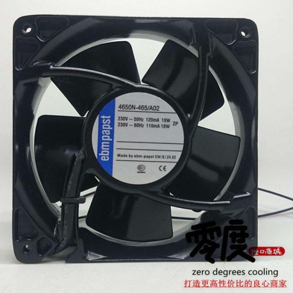 New Original EBM PAPST 4650N-465 A02 AC230V 120*120*38MM heat resistant cooling fan