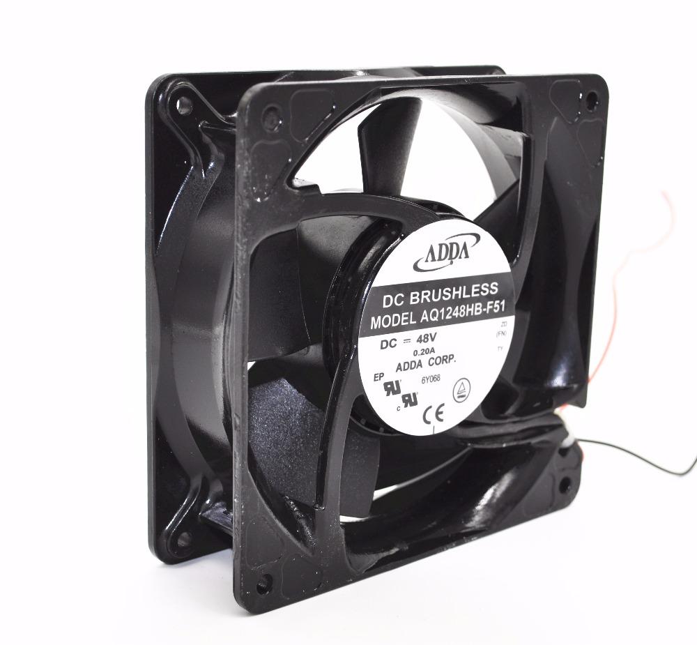 ADDA AQ1248HB-F51 48V 0.2A 2-lines humidifier waterproof cooling fan