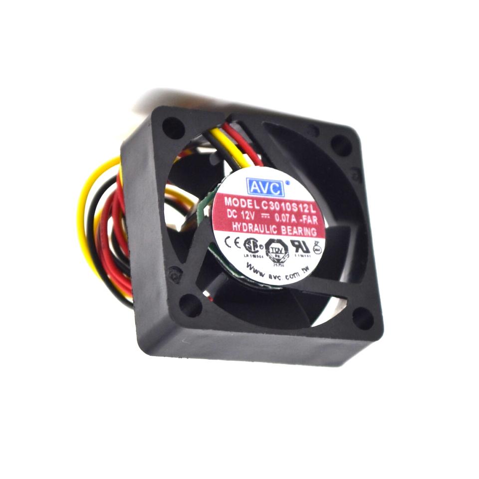 Brand New For AVC C3010S12L 12V 0.07A 30x30x10mm 3010 3cm ultra quiet hard drive cooling fan
