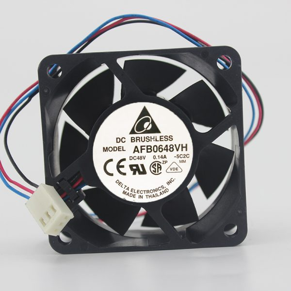 Original 6025 AFB0648VH 48V 0.14A 60 * 60 * 25MM 2-wire cooling fan