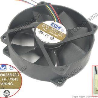 AVC DA09025B12U P043 Server Round Cooling Fan DC 12V 0.7A 92x92x25mm
