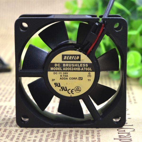 Original ADDA AD0624HB-A76GL 6025 24V 0.15A 6CM 6cm waterproof inverter cooling fan