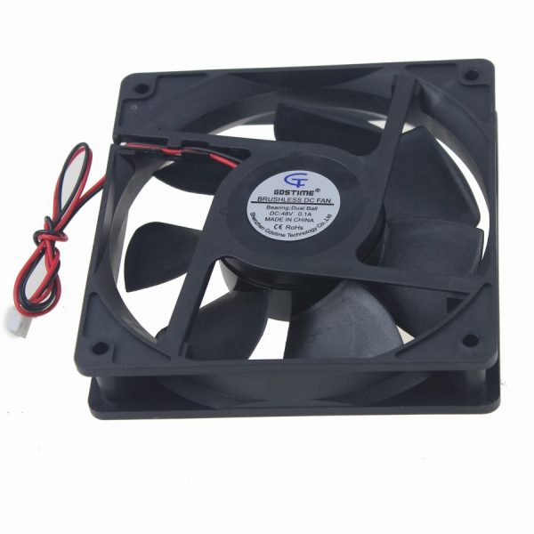 10Pcs Gdstime 12025 12cm 120mm DC 48V 0.1A Dual Ball Cooling Cooler Fan