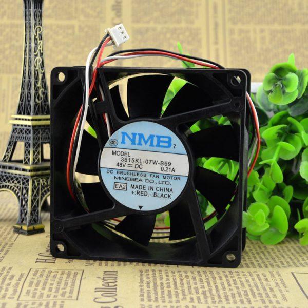 Original NMB 3615KL-07W-B69 48V 0.21A 9CM 9238 3 wire cooling fan