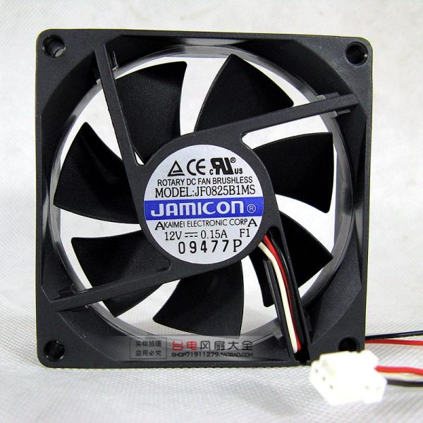 JF0825B1MS 8025 8CM 12V 0.15A Double Ball Power Supply Cooling Fan