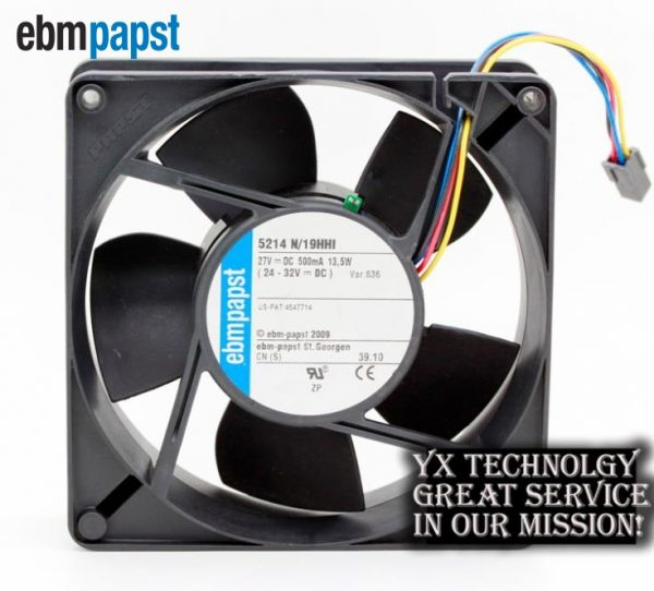 Original 5214N/19HHI 27V 13.5W 12738 inverter cooling fan