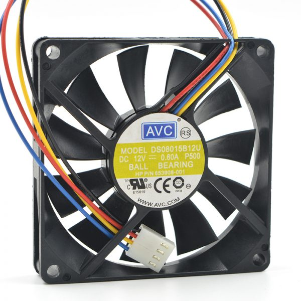 Original AVC DS08015B12U 80*80*15mm 8cm DC 12V 0.60A PWM chassis computer cooling fan