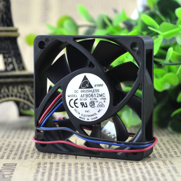AFB0612MC new original 6015 0.17A DC12V three line cooling fan fan