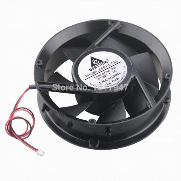 2PCS lot Gdstime DC Cooler Cooling Industrial Fan Ball 24V 2Pin 17251 170mm 172x51mm