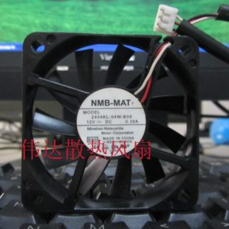 Original NMB 6010 2404KL-04W-B59 DC 12V 0.35A 60 * 60 * 10mm 3-wire interface Cooling fan