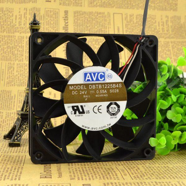 New original DBTB1225B4S 12CM 12025 24V 0.55A three-line high-volume fan