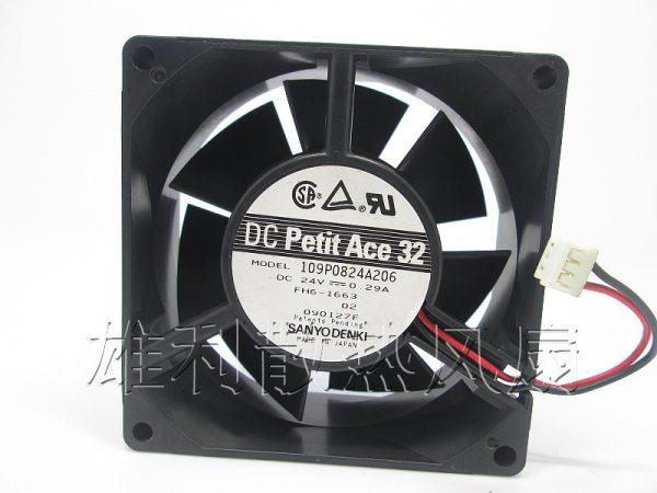 Original Sanyo 109P0824A206 8CM 8032 24V 0.29A 80 * 80 * 32MM2 line inverter cooling fan...