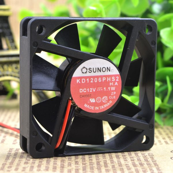 Free Delivery.KD1206PHS2 12 v 1.1 W 6 cm 6015 silent chassis power supply fan