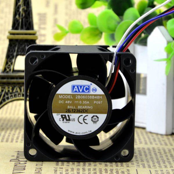 AVC 2B06038B48H 6038 48V 0.35A 6CM/CM Double ball bearing cooling fan