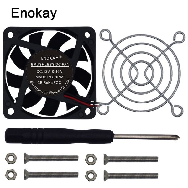 Rushed Real Computer Water Cooler Fan Enokay 1PCS LOT 6015 60mm 60x60x15mm 6cm DC 12V/24V 2Pin Cooler Axial Exhaust Fan