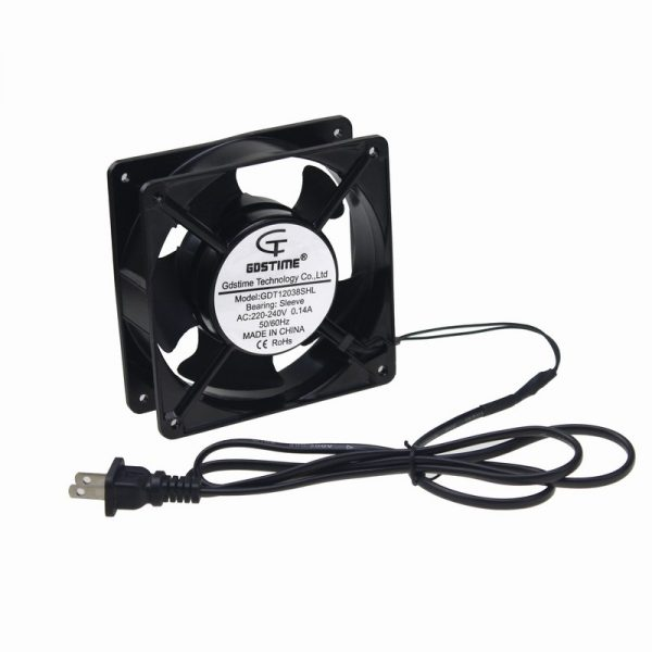 Gdstime 10 pcs AC Cooling Fan 120mm x 38mm 12038 12cm 220V 240V Chassis Power Plug Axial Fan 120x120x38mm