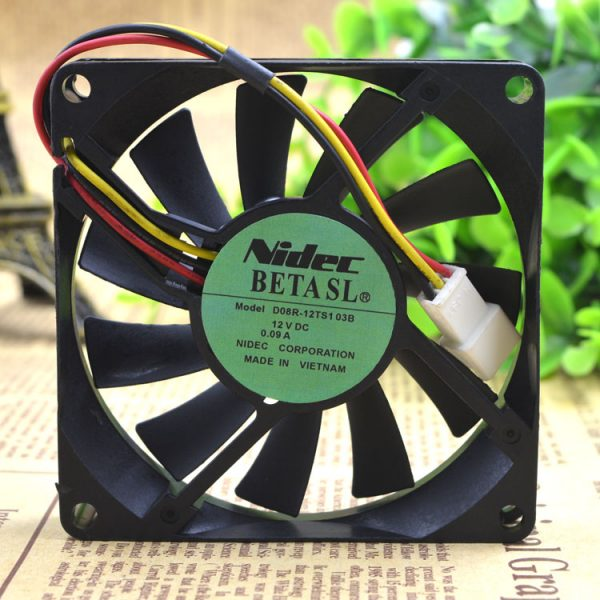 Free Delivery.D08R - 12 ts103b 8015 12 v 0.09 A 8 cm 3 line ultra-quiet cooling fans