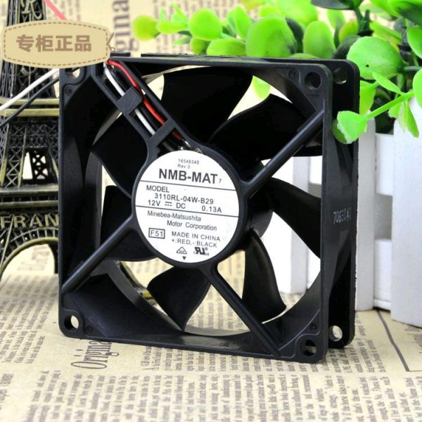 Free Delivery. 3110 rl - 04 w - 12 VDC 0.13 A b-29 original 80 * 80 * 25 mm axial flow fan