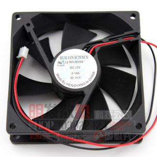 Original 9025 RDL9025S DC12V 0.16A ultra-quiet chassis power supply refrigerator fan