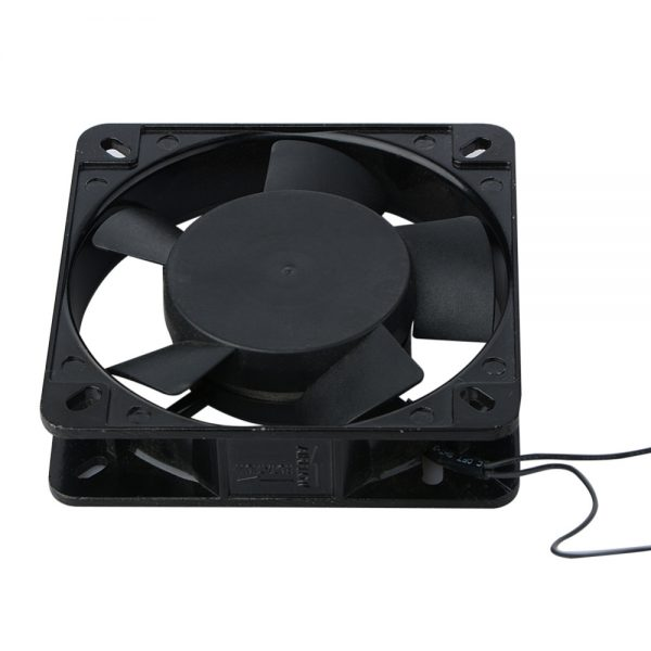 New Black 120x120x25mm 2 Wire 0.1A AC Axial 220 240V Metal Industrial Cooler Cooling Fan