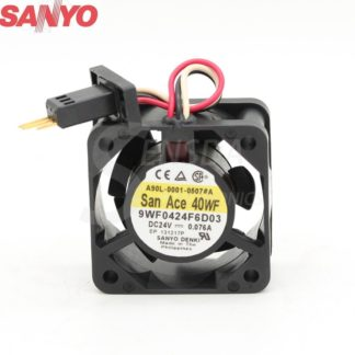 Original Sanyo 9WF0424F6D03 24V 0.076A 40*40*20 mm 4cm 40mm server axial cooling fans