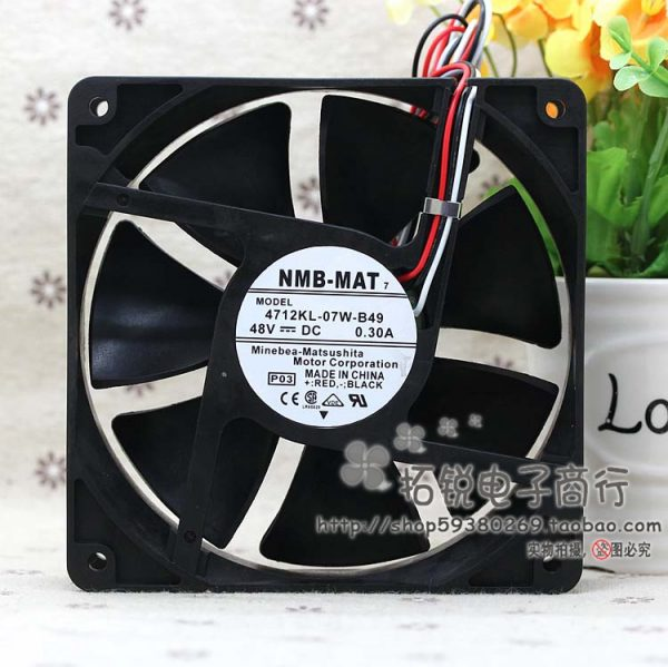 NEW NMB-MAT Minebea 4712KL-07W-B49 48V 0.3A 12cm 12032 Frequency converter cooling fan