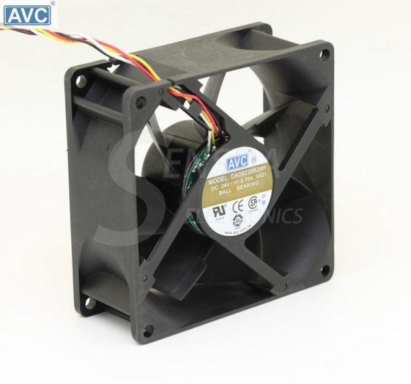 AVC DA09238B24H -018 DC 24V 0.7A 92x92x38mm computer server inverter Server Square cooling Fans 3-Wire